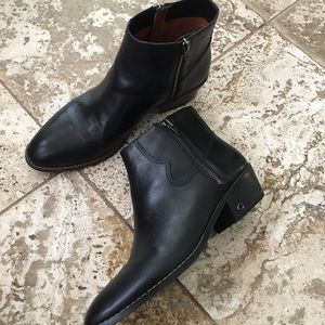 Coach leather boots 8,5